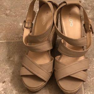 Aldo Size 40 wedge sandals